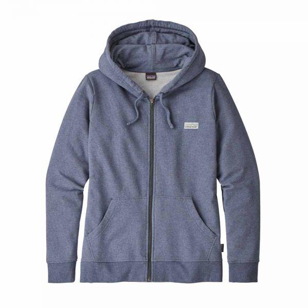 Patagonia W´s Pastel P-6 Label MW Full-Zip Hoody Damen Kapuzenjacke Dolomite Blue