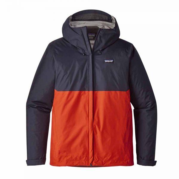 Patagonia M´s Torrentshell Jacket Herren Jacke Navy Blue w Paintbrush Red