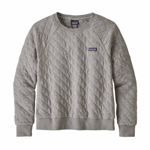 Patagonia W's Organic Cotton Quilt Crew Drifter Grey
