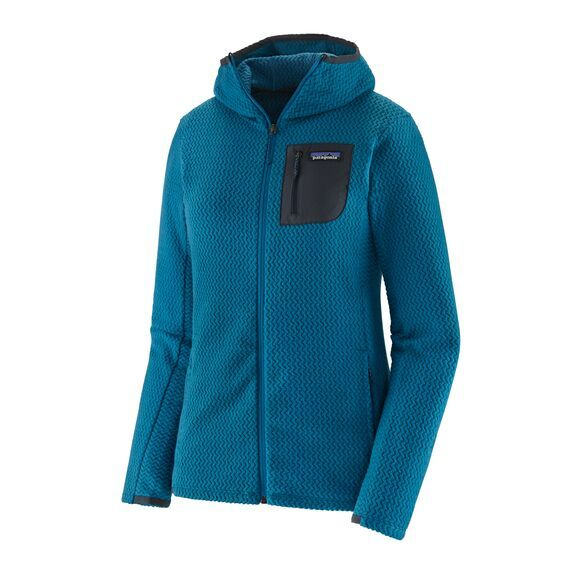 Patagonia W's R1 Air Full-Zip Hoody Damen Jacke Steller Blue