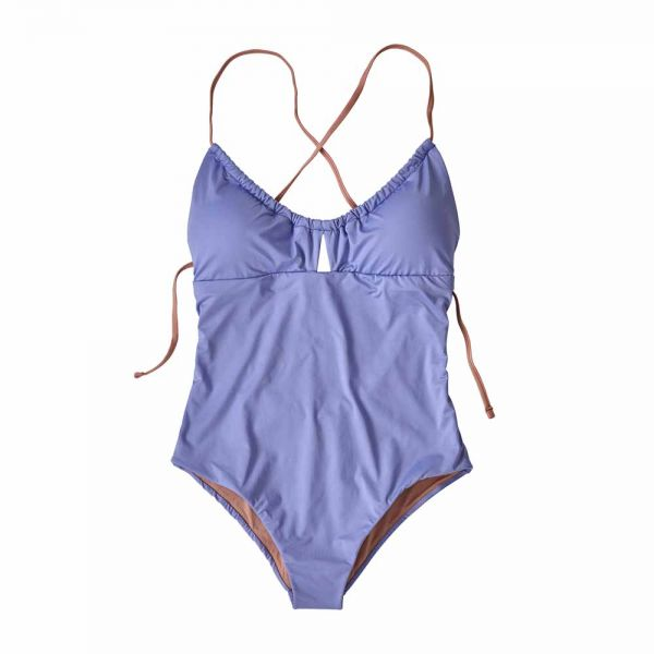 Patagonia W´s Glassy Dawn 1pc Swimsuit Damen Badeanzug light violet blue