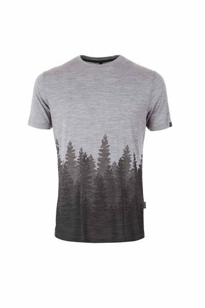 Pally'Hi Men´s T-Shirt Organic Skyline Herren Kurzarmshirt heather grey