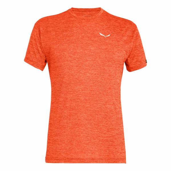 Salewa Puez Melange Dry M S/S Tee Herren T-Shirt Red Orange Melange
