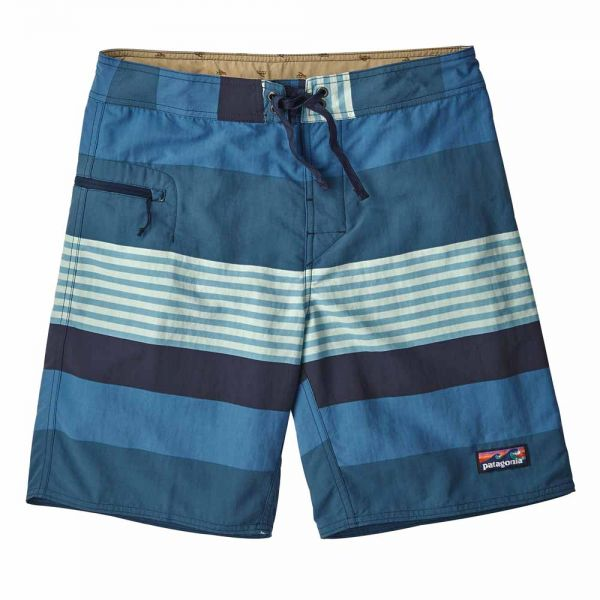 Patagonia M´s Wavefarer Boardshorts - 19 in Herren Badeshort fitz stripe port blue