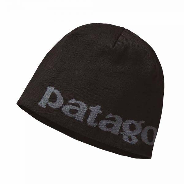 Patagonia Beanie Hat Mütze logo belwe black