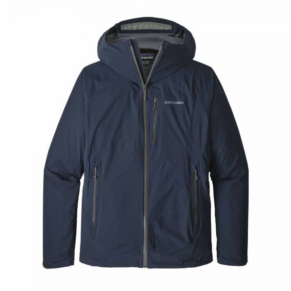 Patagonia M´s Stretch Rainshadow Jacket Herren Jacke Navy Blue w Forge Grey