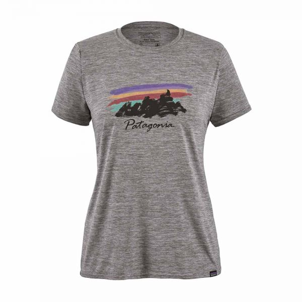 Patagonia W´s Capilene Sool Daily Graphic Shirt free hand fitz roy feather grey