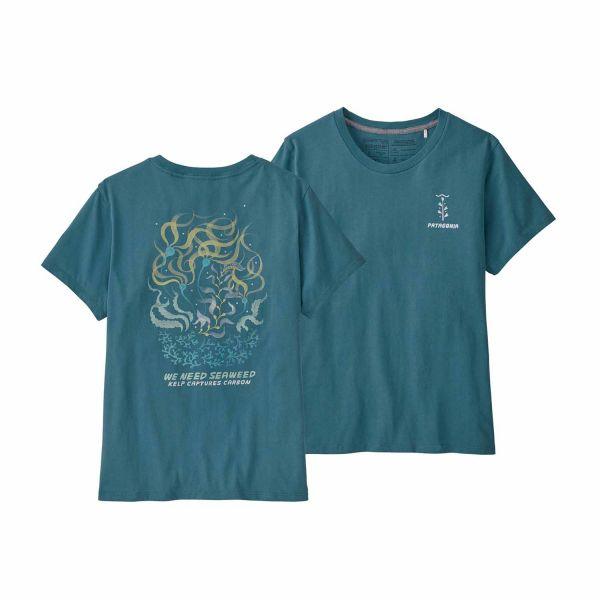 Patagonia Women's We Need Seaweed Regenerative Organic Pilot Cotton T-Shirt Abalone Blue