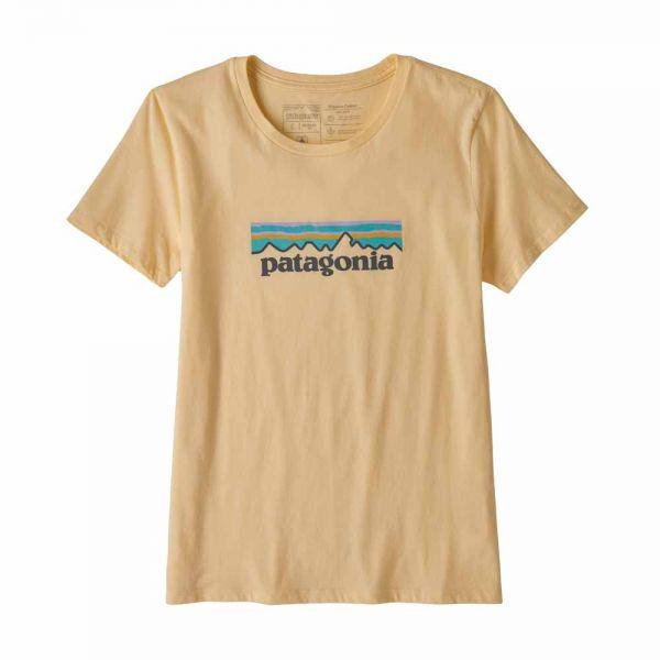 Patagonia W's Pastel P-6 Logo Organic Crew T-Shirt vela peach