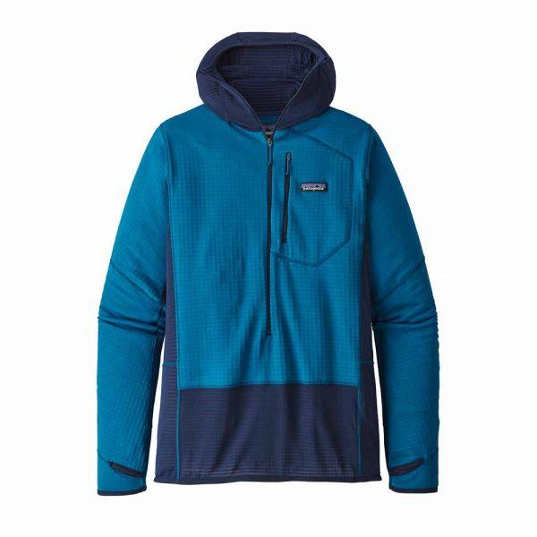 Patagonia M´s R1 PO Hoody Herren Kapuzensweater balkan blue