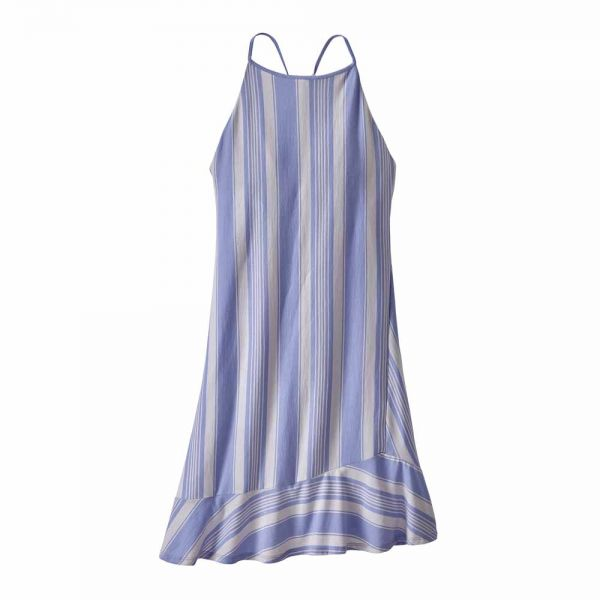 Patagonia W´s Alpine Valley Dress Damenkleid granite stripe light violet blue