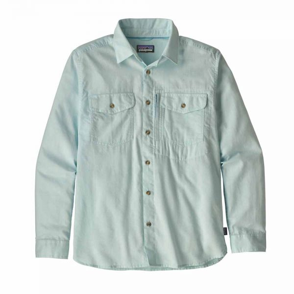 Patagonia M´s LS Cayo Largo II Herren Langarmhemd chambray break up blue
