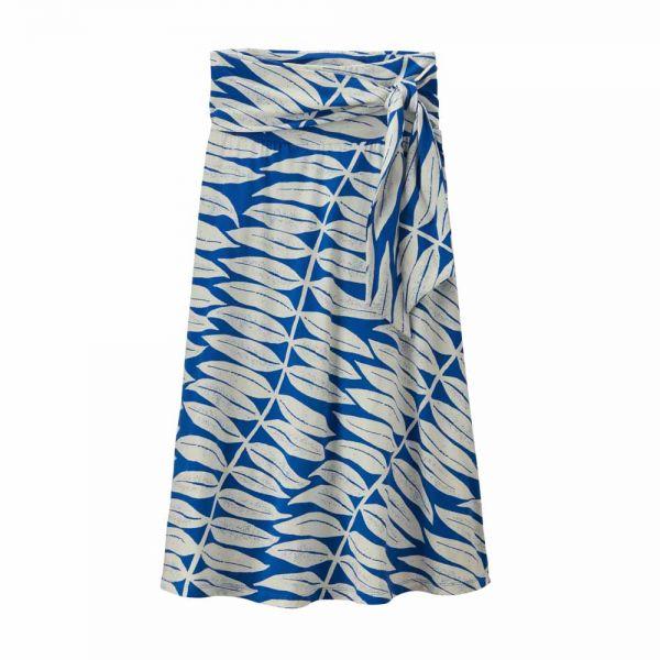 Patagonia W's Kamala Midi Skirt Eucalyptus Fronds: Bayou Blue
