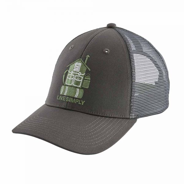 Patagonia Live Simply Home LoPro Trucker Hat Kappe forge grey
