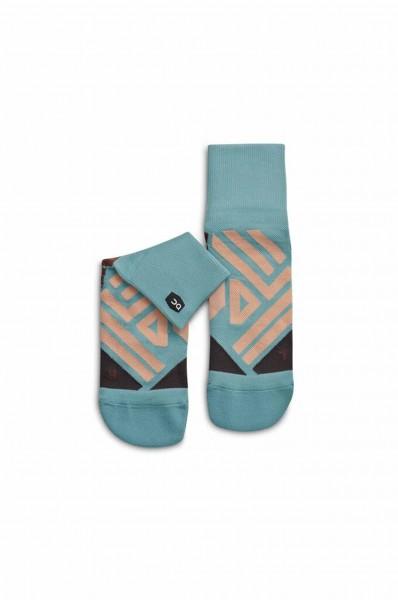 On Mid sock Sea - Rosebrown Damen Socken