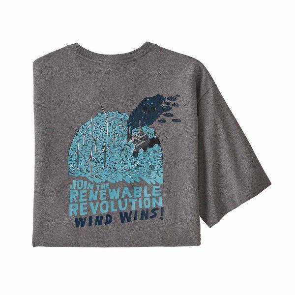 Patagonia Men´s Wind Wins Responsibili Tee Gravel Heather