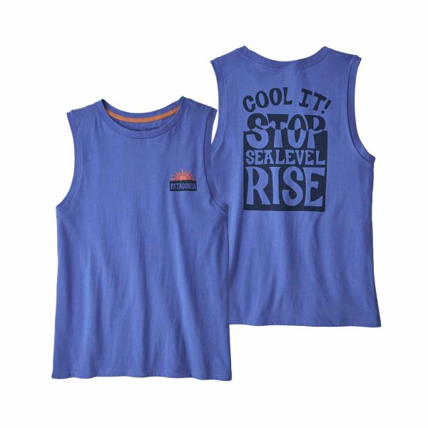 Patagonia W's Stop the Rise Organic Muscle Tee Float Blue