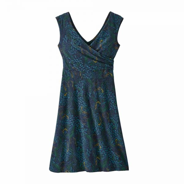 Patagonia W´s Porch Song Dress Damenkleid swift feathers multi new navy