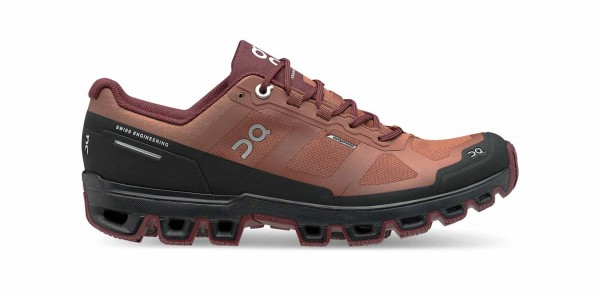 On Cloudventure Waterproof Hazel - Mulberry Damen Laufschuhe