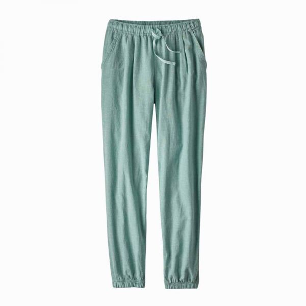 Patagonia W´s Island Hemp Beach Pants Damen Freizeithose cross weave atoll blue