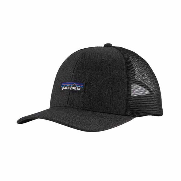 Patagonia Tin Shed Mesh Cap P-6 Logo: Ink Black