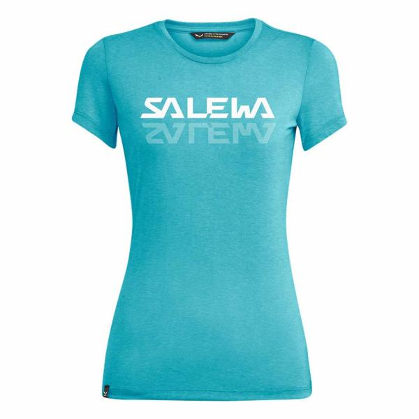 Salewa Graphic Dry Damen T-Shirt Maui Blue Melange
