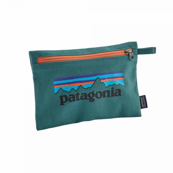 Patagonia Zippered Pouch Kulturtasche p-6 logo tasmanian teal