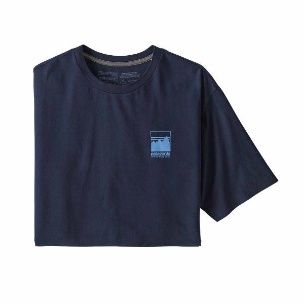 Patagonia Men´s Alpine Icon Regenerative Organic Cotton T-Shirt New Navy