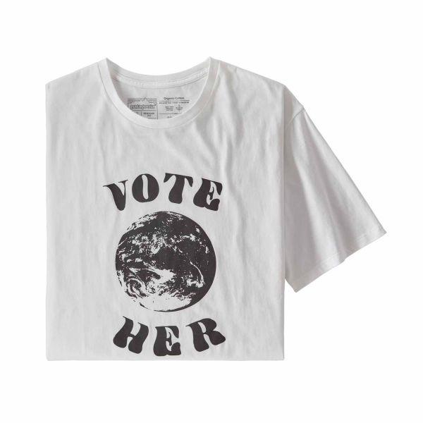 Patagonia M's Vote Her Organic T-Shirt Herren White