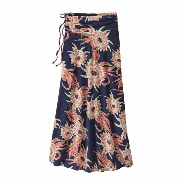 Patagonia W´s Kamala Maxi Skirt Damen Rock Cereus Flower Classic Navy