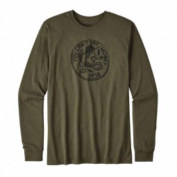 Patagonia L/S Can´t Eat Money Cotton/Poly Responsibili-Tee Herren T-Shirt