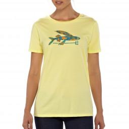 Patagonia Women Isle Wild Flying Fish Crew T-Shirt
