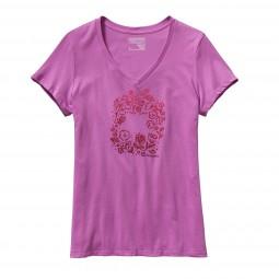 Patagonia Women Live Simply Homegrown V-Neck T-Shirt