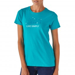 Patagonia W´s Live Simply Quiver Cotton/Poly Crew T-Shirt